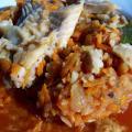 Ryba po grecku - dorsz lub czerniak z warzywami