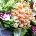 Krewetki z ryżem na ziołach