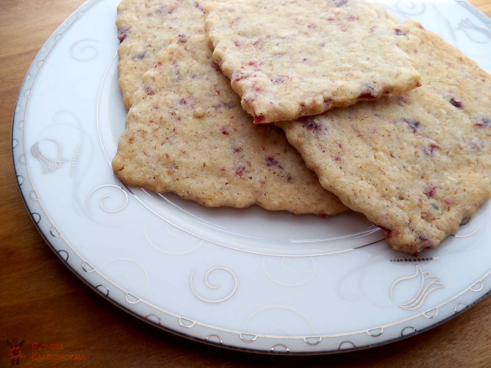 Ciasteczka owsiane zżurawiną imasłem