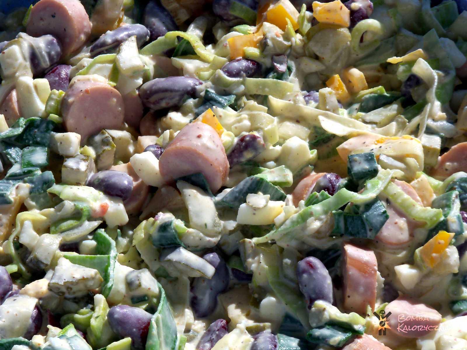 Jesienna sałatka porowa